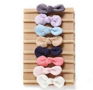 Newborn-Baby-Nylon-Soft-Bow-Head-Wrap-Turban-Top-Knot-Headband-Girl-Accessories
