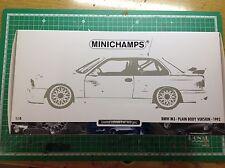 1992 BMW M3 E30 DTM Plain Body Version white weiss 1:18 Minichamps