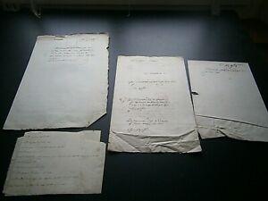Lot de document famille d'Adonville généalogie Beauce couleur de blason