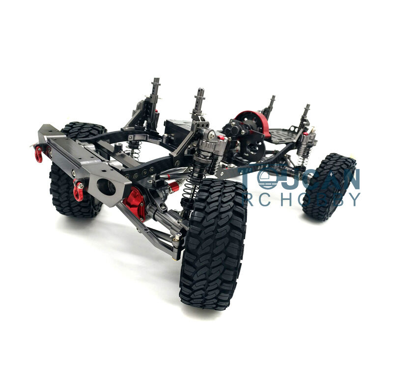 1 10 Scale SCX10 Crawler Car KIT Model Metal Alloy Chassis W  Gearbox Wheel Hub