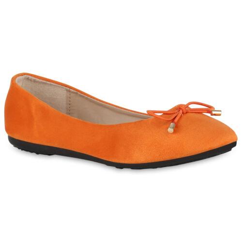 Damen Klassische Ballerinas Schleifen Slippers Slip On Flats 825925 Schuhe