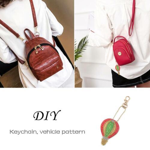 5pcs//set 5D DIY Diamond Painting Key Chain Keychain Key Ring Handmade Gift