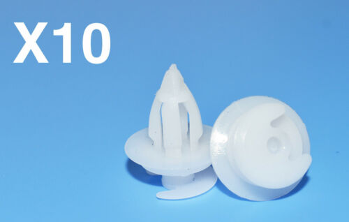 10 pièces NISSAN MICRA plastique blanc porte carte Panneau de garniture Clips