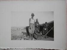 Vecchia foto d epoca fotografia antica TRUPPE COLONIALI ITALIANE tenda beduini
