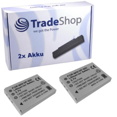 2x Batteria per Praktica luxmedia 7203 DCZ 8.3