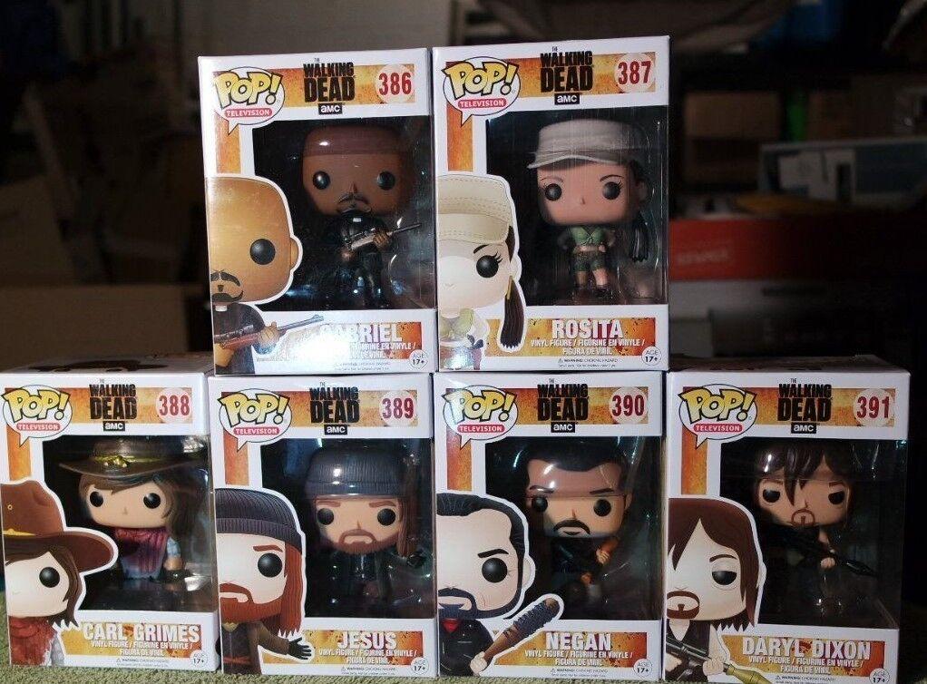 Funko Pop The Walking Dead S7 Negan conjunto de 6 figuras de vinilo con Projoector caso menta