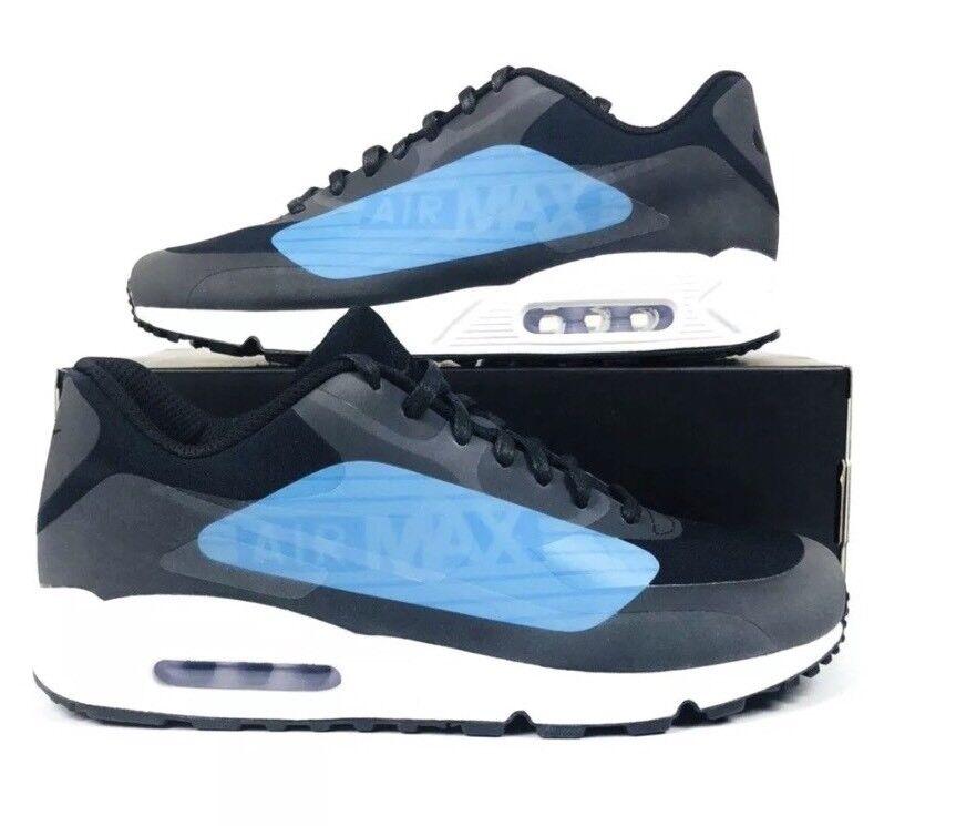 Men's Nike Air Max 90 NS GPX Running Shoe Black/Laser Blue AJ7182 002 Size 10.5