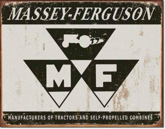 Massey Ferguson Tractor Combine Logo  Metal Sign Tin New Vintage Style #1504