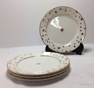 ... Sakura-Galaxy-White-Ivory-Set-Of-4-Salad- & Sakura Galaxy White Ivory Set Of 4 Salad Plates | eBay