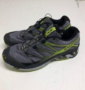 meilleure sélection dca1a 7f181 Details about Salomon XT Wings 3 $139 Men's Trail Running Shoes Size 12.5  Gray & Green