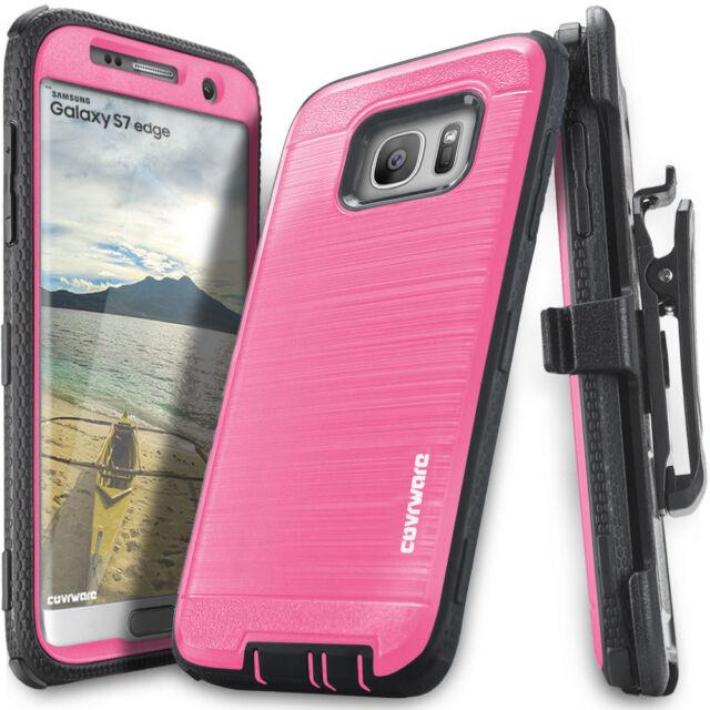 best service 1c91b eabb1 COVRWARE® Samsung Galaxy S7 Edge Holster Case + Full Coverage Screen  Protector