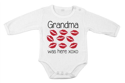 Oma war hier Geschenkidee Babykleidung Body für Neugeborene aus reiner Baumwolle