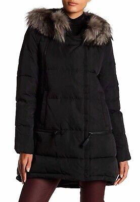 Derek LAM 10 Crosby Women/'s Down Jacket Coat XL Black Winter Faux Fur Coat NWT