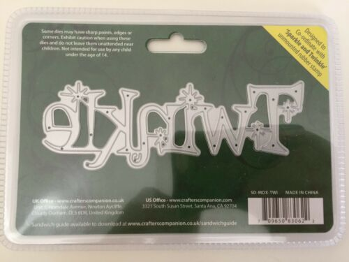 Sheena Douglass Christmas Sentiment Die TWINKLE By Crafters Companion NEW