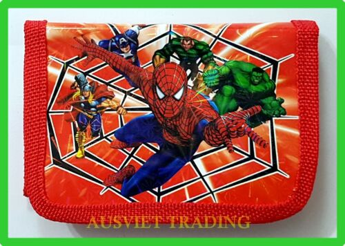 new Spiderman boys kids Wallet tri-fold coin purse
