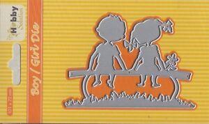 Stanzschablone-Cutting-Hobby-Solution-boy-girl-Liebe-Love-Junge-Nellie-HSDJ028