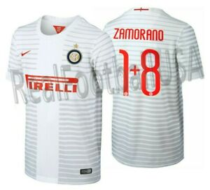 the latest 8c8f6 1173a Details about NIKE IVAN ZAMORANO INTER MILAN AWAY JERSEY 2014/15.