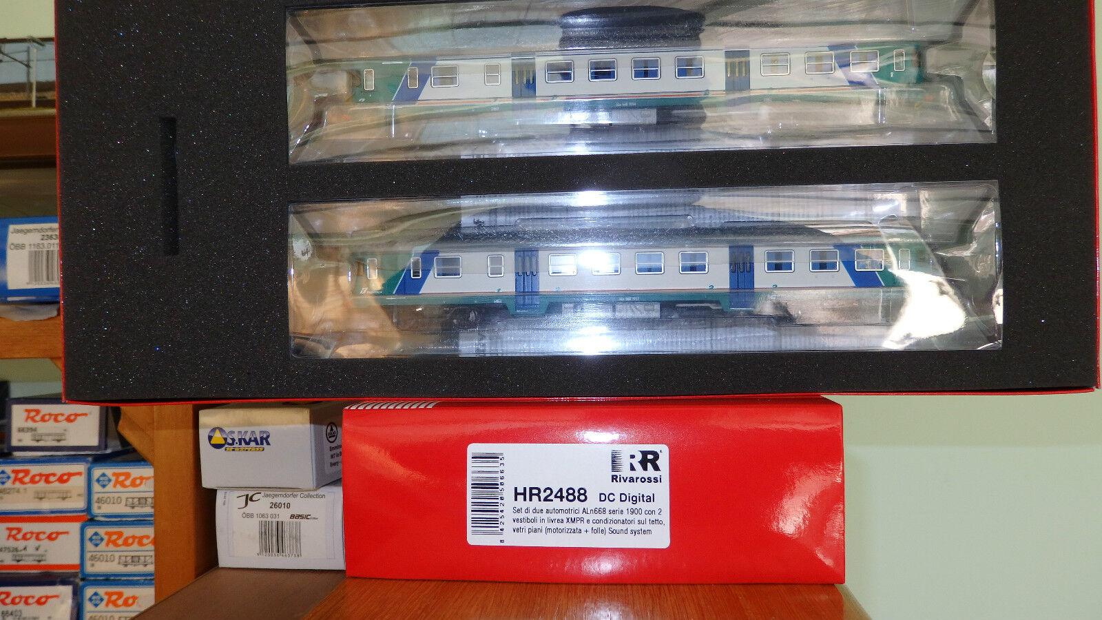Rivarossi HR2488 Aln 668 Xmpr Trenitalia,Window Floors,Motoriz + Idler DCC Sound