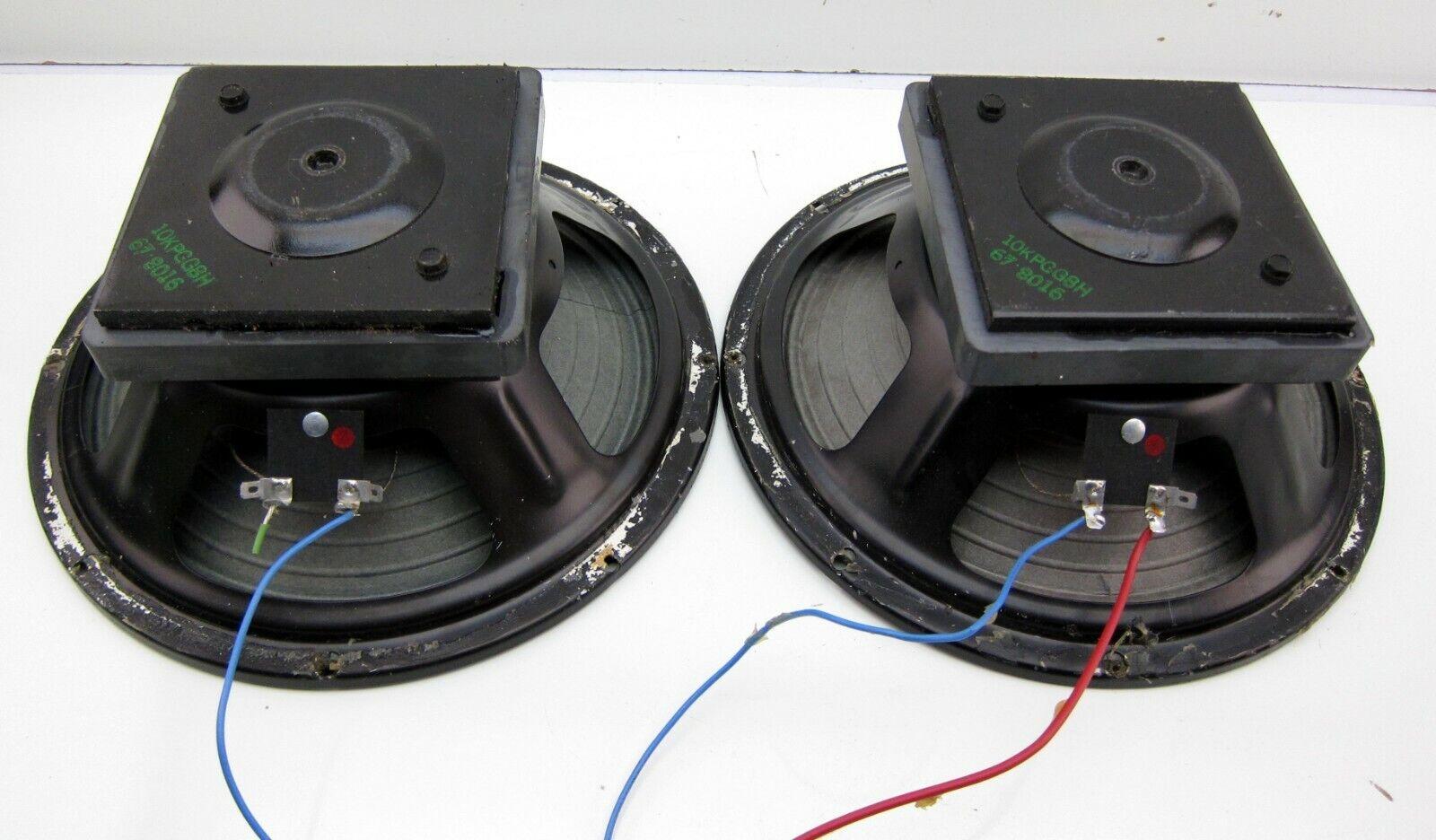 Vintage Pair Eminence 10 im Kombibereich 65533; Guitar Speaker Woofer Drivers 4 Ohm 67-8016 PA Monitor
