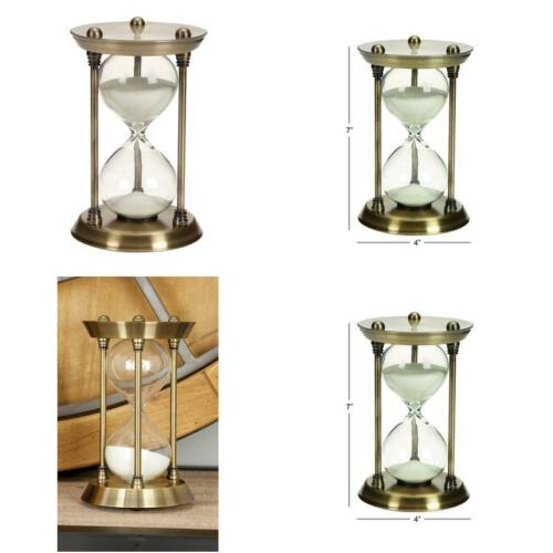 Deco 79 Metal//Glass Quarter Hourglass With 15 Minutes Time Interval