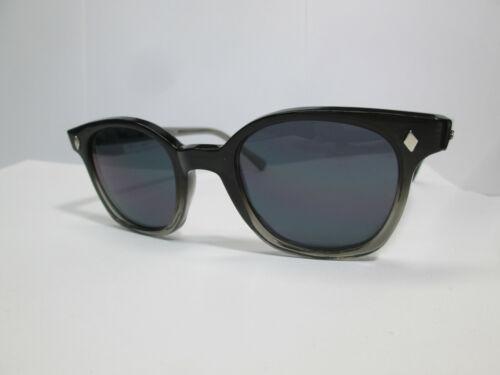 Sunglasses 60s Style Horn Rim Hipster G Men Custom Two Tone Gray Hoya 50 Large