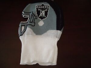 e317e89db9e vintage 80s NWT LOS ANGELES RAIDERS HELMET SKI MASK WINTER HAT ...