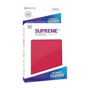 Gry karciane Yu-Gi-Oh! 60 ULTIMATE GUARD SUPREME MATTE RED JAPANESE Card SLEEVES Small Deck Protector Kolekcjonerskie gry karciane