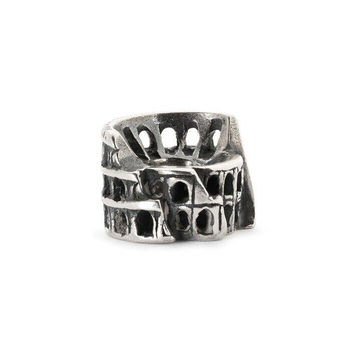 Trollbeads Cuenta en silver de silver Coliseo Roma Tagbe-30071