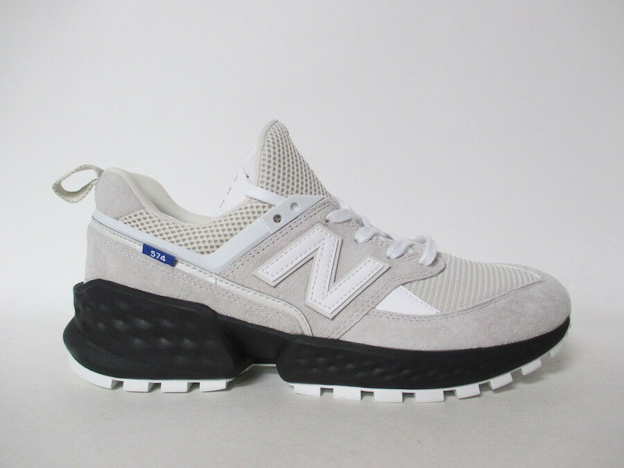 New Balance 574 Grey Black White Cream bluee Fresh Foam Sz 9 MS574EDA