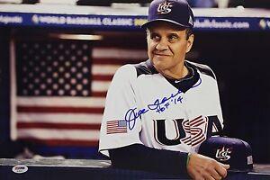 Joe Torre Signed USA Baseball 12x18 Photo