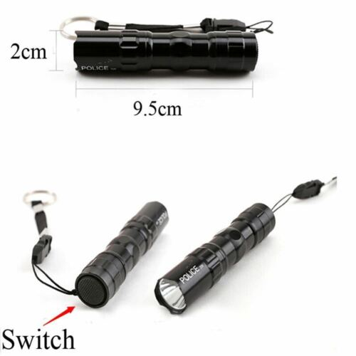 Hot Bright Outdoor Waterproof Mini LED Flashlight Pocket Torch Light Bulb Lamp