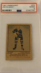 1951-1952-PARKHURST-Joe-Klukay-PSA-2-Good-74-HOCKEY-GD-Maple-Leafs-Toronto