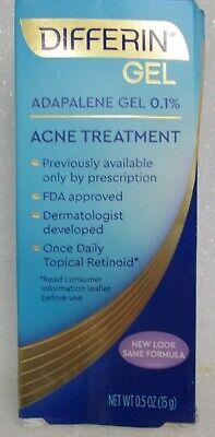 Differin Adapalene Gel 0 1 Acne Treatment 0 5 Oz 15 G