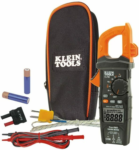 Klein Tools CL700 Digital Clamp Meter With Auto-Ranging True RMS, Low Impedance