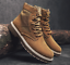 thumbnail 7 - Mens Fashion Riding Boots High Top Lace Up Round Toes Solid Autumn Ankle Booties