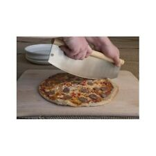 Giant Pizza Cutter Whole Slicer Long Cake Large Knife Stainless Steel Wood Easy