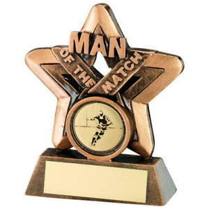 2 SIZES TROPHIES FREE ENGRAVING RUGBY MAN OF THE MATCH ACRYLIC TROPHY 100mm