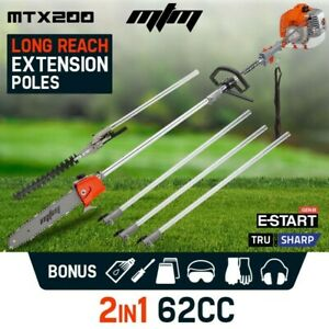 【EXTRA20%OFF】62cc Long Reach Pole Chainsaw Hedge Trimmer Pruner Chain Saw