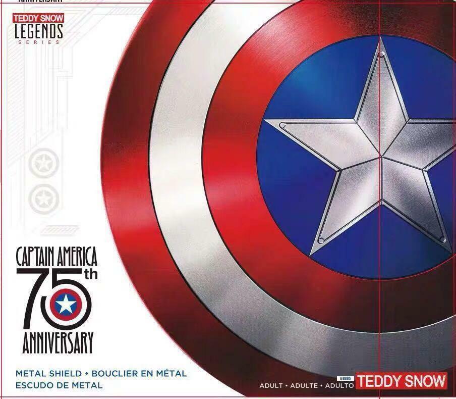 Marvel Legends  Escudo Capitán América 75º Aniversario Cosplay Aluminio, 60 cm
