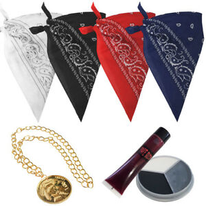 TUPAC DURAG WITH GOLD MEDALLION FANCY DRESS SET + ZOMBIE TUPAC SET