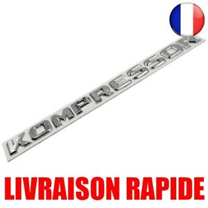 3D-ABS-Chrome-KOMPRESSOR-Embleme-Autocollant-Mercedes-Benz-SLK-CLK-SL-CLS-ML-GL
