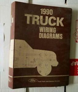 1990 Ford Truck Wiring Diagrams Bronco F150 F350 F600 F800 Cargo Ranger Ebay