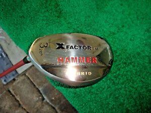 HAMMER X Factor 20 Degree #3 Hybrid LH Regular Flex Graphite Golf Club