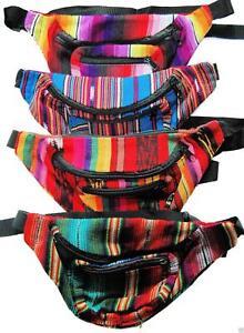 Comercio-Justo-Hippy-Mexicano-Rinonera-Cartera-Seguridad-Cinturon-Bolsa-de-Viaje