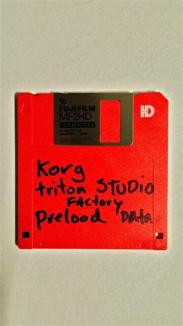 Korg TRITON STUDIO Factory PRELOAD Data FLOPPY disc