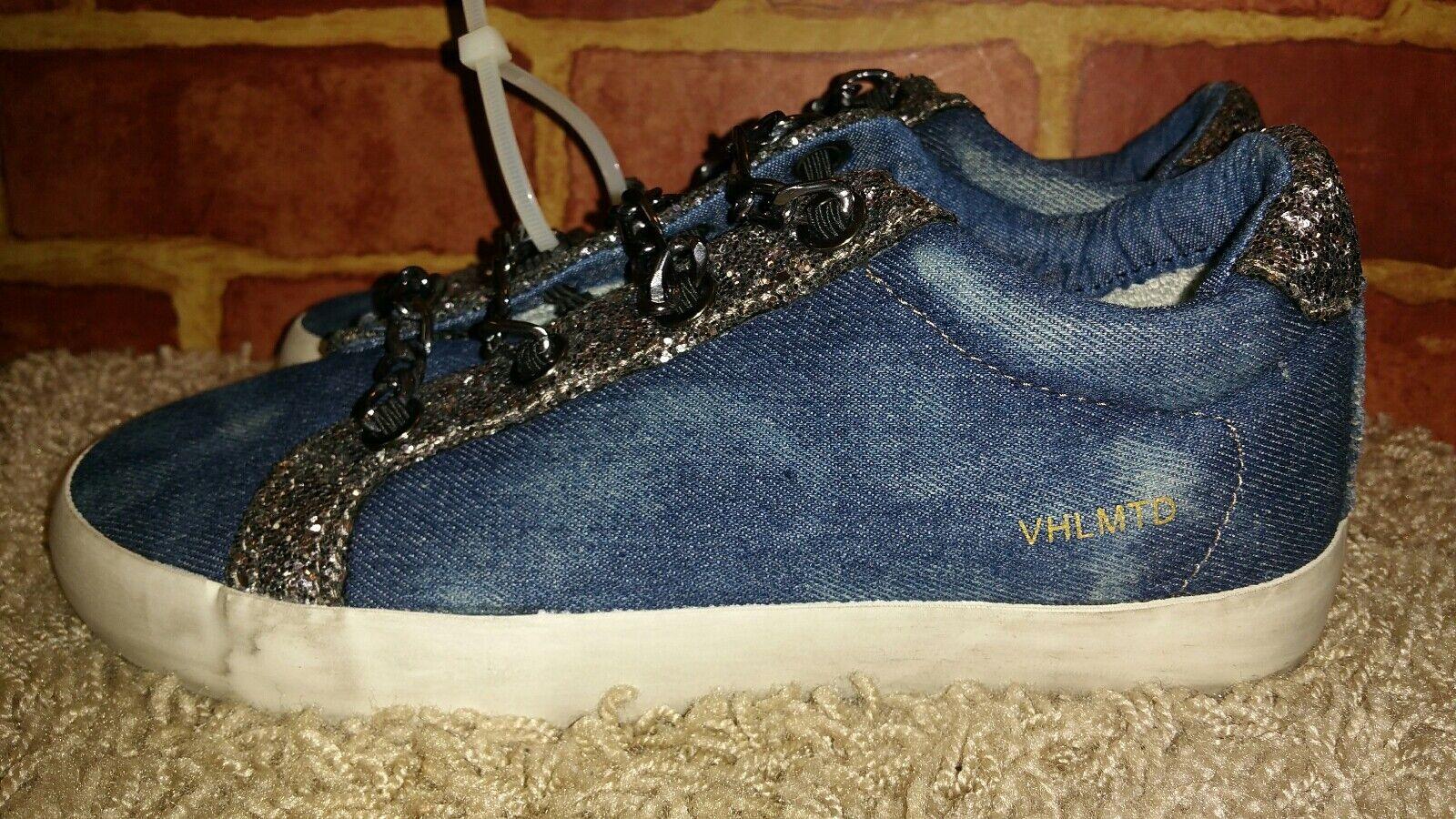 Vintage Havana WM's Yves Sneakers, Sneakers, Sneakers, bluee Denim Sparkle Slip on, Chain SZ 11 2462 b6a99a