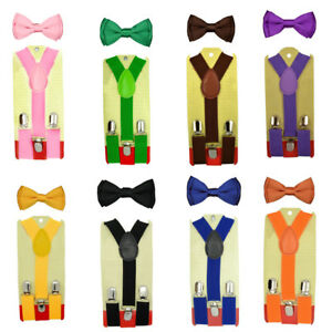 Bretelle-Pantalon-N-ud-Papillon-Femme-Homme-Enfant-Elastiqu-Clip-On-Y-Forme-Mode
