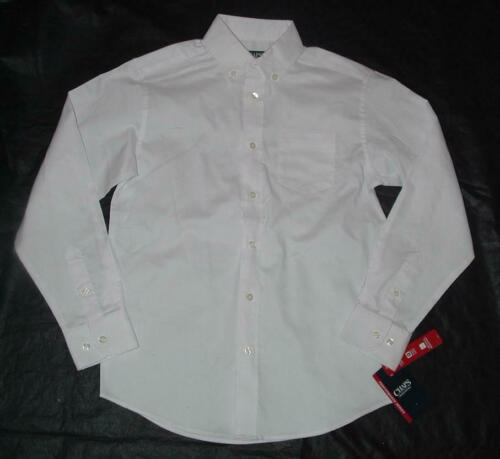 NEW NWT Choose Boy Sz 6 or 7 or 8 White Button Up Long Sleeve Oxford Shirt CHAPS