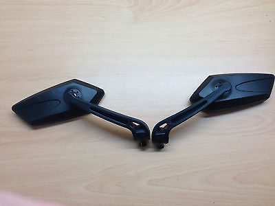 Yamaha YBR 125 Universal  Motorcycle  Mirrors  10mm Thread Black