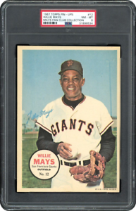 Willie-Mays-1967-Topps-PIN-UPS-12-Mays-Fan-Club-Collection-PSA-8